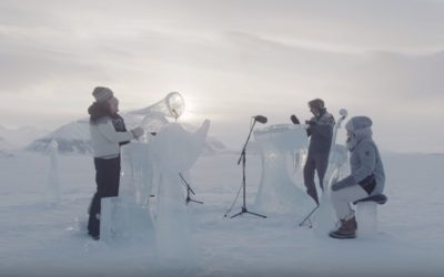 Greenpeace: The world's most northerly ice music concert
